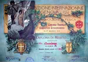 Diploma di merito Amiscora 1914