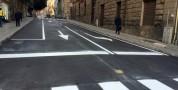Via Sassari riapre al traffico