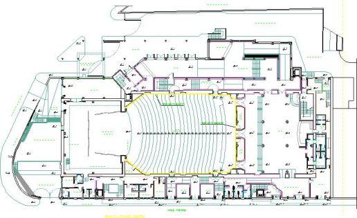 Materiali e impianti teatro massimo progetto di for Progetto piano terra