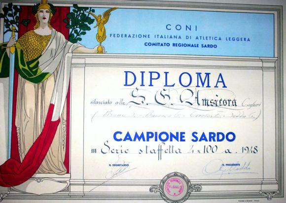 Società Amsicora - diploma