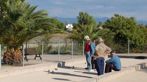 Bocce al parco di Terramaini a Cagliari