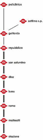 schema nuova tratta metro cagliari